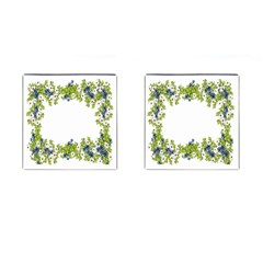 Birthday Card Flowers Daisies Ivy Cufflinks (square)