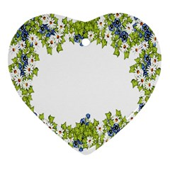 Birthday Card Flowers Daisies Ivy Heart Ornament (Two Sides)