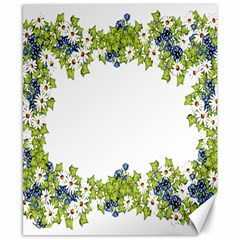 Birthday Card Flowers Daisies Ivy Canvas 8  x 10