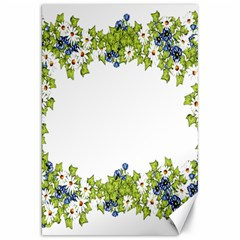 Birthday Card Flowers Daisies Ivy Canvas 20  x 30