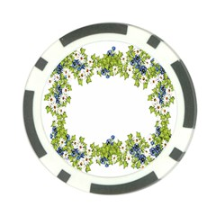 Birthday Card Flowers Daisies Ivy Poker Chip Card Guard