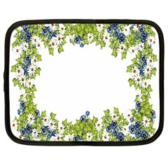 Birthday Card Flowers Daisies Ivy Netbook Case (Large)