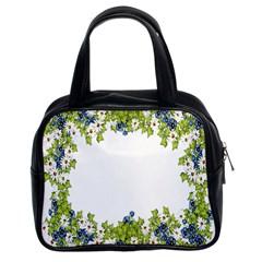 Birthday Card Flowers Daisies Ivy Classic Handbags (2 Sides)