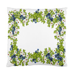 Birthday Card Flowers Daisies Ivy Standard Cushion Case (two Sides)