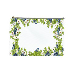 Birthday Card Flowers Daisies Ivy Cosmetic Bag (Large)