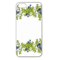 Birthday Card Flowers Daisies Ivy Apple Seamless iPhone 5 Case (Clear)