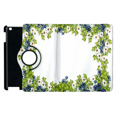 Birthday Card Flowers Daisies Ivy Apple Ipad 2 Flip 360 Case