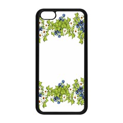 Birthday Card Flowers Daisies Ivy Apple Iphone 5c Seamless Case (black)