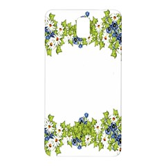 Birthday Card Flowers Daisies Ivy Samsung Galaxy Note 3 N9005 Hardshell Back Case