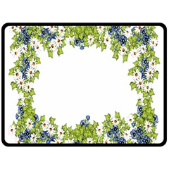 Birthday Card Flowers Daisies Ivy Double Sided Fleece Blanket (large)
