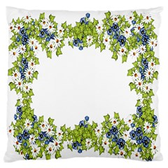 Birthday Card Flowers Daisies Ivy Large Flano Cushion Case (One Side)