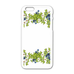 Birthday Card Flowers Daisies Ivy Apple Iphone 6/6s White Enamel Case