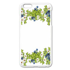 Birthday Card Flowers Daisies Ivy Apple iPhone 6 Plus/6S Plus Enamel White Case