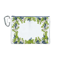Birthday Card Flowers Daisies Ivy Canvas Cosmetic Bag (m)
