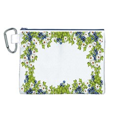 Birthday Card Flowers Daisies Ivy Canvas Cosmetic Bag (L)