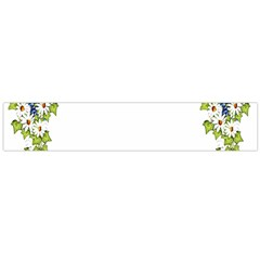 Birthday Card Flowers Daisies Ivy Flano Scarf (large)