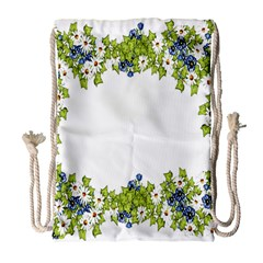 Birthday Card Flowers Daisies Ivy Drawstring Bag (large)