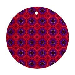 Retro Abstract Boho Unique Ornament (round)
