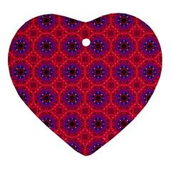 Retro Abstract Boho Unique Ornament (Heart)