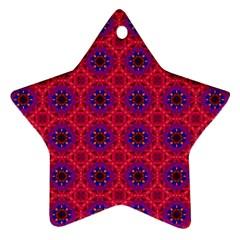 Retro Abstract Boho Unique Ornament (star)