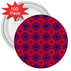 Retro Abstract Boho Unique 3  Buttons (100 Pack)