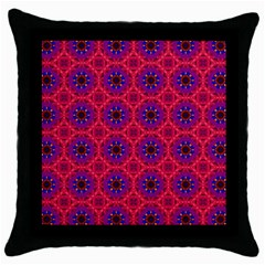 Retro Abstract Boho Unique Throw Pillow Case (black)