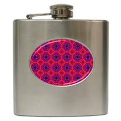Retro Abstract Boho Unique Hip Flask (6 oz)