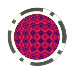 Retro Abstract Boho Unique Poker Chip Card Guard (10 pack)