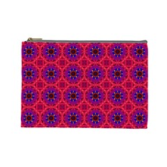 Retro Abstract Boho Unique Cosmetic Bag (Large)