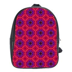 Retro Abstract Boho Unique School Bags (xl)
