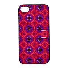 Retro Abstract Boho Unique Apple iPhone 4/4S Hardshell Case with Stand