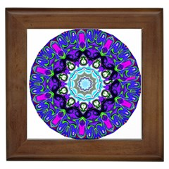 Graphic Isolated Mandela Colorful Framed Tiles