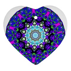 Graphic Isolated Mandela Colorful Ornament (heart)