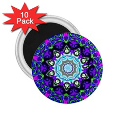 Graphic Isolated Mandela Colorful 2.25  Magnets (10 pack)