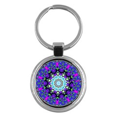 Graphic Isolated Mandela Colorful Key Chains (round)