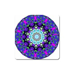 Graphic Isolated Mandela Colorful Square Magnet