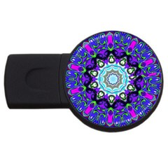 Graphic Isolated Mandela Colorful Usb Flash Drive Round (2 Gb)