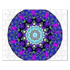 Graphic Isolated Mandela Colorful Rectangular Jigsaw Puzzl