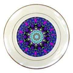Graphic Isolated Mandela Colorful Porcelain Plates