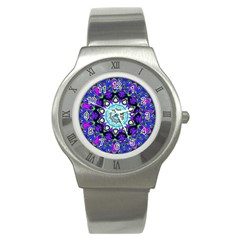 Graphic Isolated Mandela Colorful Stainless Steel Watch