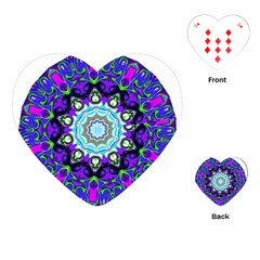 Graphic Isolated Mandela Colorful Playing Cards (Heart)