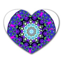 Graphic Isolated Mandela Colorful Heart Mousepads