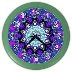 Graphic Isolated Mandela Colorful Color Wall Clocks