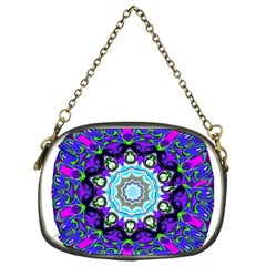 Graphic Isolated Mandela Colorful Chain Purses (One Side)