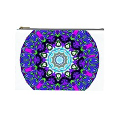 Graphic Isolated Mandela Colorful Cosmetic Bag (large)