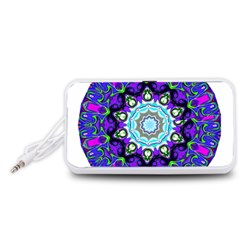 Graphic Isolated Mandela Colorful Portable Speaker (white)