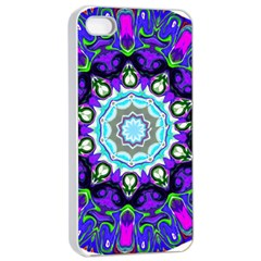 Graphic Isolated Mandela Colorful Apple Iphone 4/4s Seamless Case (white)
