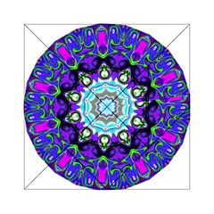 Graphic Isolated Mandela Colorful Acrylic Tangram Puzzle (6  X 6 )