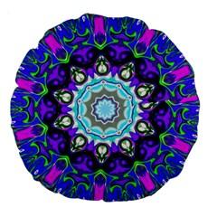 Graphic Isolated Mandela Colorful Large 18  Premium Round Cushions