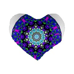 Graphic Isolated Mandela Colorful Standard 16  Premium Heart Shape Cushions